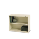 TENNSCO TNNB30PY Metal Bookcase, Two-Shelf, 34-1/2w X 13-1/2d X 28h, Putty