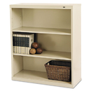 TENNSCO TNNB42PY Metal Bookcase, Three-Shelf, 34-1/2w X 13-1/2d X 40h, Putty