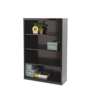 TENNSCO TNNB53BK Metal Bookcase, Four-Shelf, 34-1/2w X 13-1/2d X 52-1/2h, Black