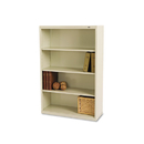 TENNSCO TNNB53PY Metal Bookcase, Four-Shelf, 34-1/2w X 13-1/2d X 52-1/2h, Putty