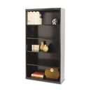 TENNSCO TNNB66BK Metal Bookcase, Five-Shelf, 34-1/2w X 13-1/2d X 66h, Black