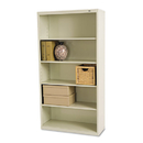 TENNSCO TNNB66PY Metal Bookcase, Five-Shelf, 34-1/2w X 13-1/2d X 66h, Putty