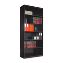 TENNSCO TNNB78BK Metal Bookcase, Six-Shelf, 34-1/2w X 13-1/2d X 78h, Black