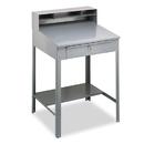 TENNSCO TNNSR57MG Open Steel Shop Desk, 34-1/2w X 29d X 53-3/4h, Medium Gray