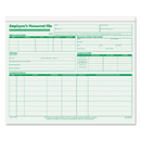 TOPS BUSINESS FORMS TOP3287 Employee Record File Folders, Straight Cut, Letter, 2-Sided, Green Ink, 20/pack