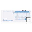 TOPS BUSINESS FORMS TOP38538 Credit Card Sales Slip, 7 7/8 X 3-1/4, Three-Part Carbonless, 100 Forms