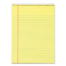 TOPS BUSINESS FORMS TOP63621 Docket Wirebound Ruled Pad W/cover, 8 1/2 X 11 3/4, Canary, 70 Sheets