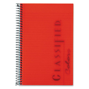 TOPS BUSINESS FORMS TOP73505 Classified Colors Notebook, Red Cover, 5 1/2 X 8 1/2, White, 100 Sheets