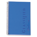 TOPS BUSINESS FORMS TOP73506 Classified Colors Notebook, Blue Cover, 5 1/2 X 8 1/2, White, 100 Sheets