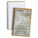 TOPS BUSINESS FORMS TOP74108 Second Nature Subject Wirebound Notebook, Narrow, 5 X 8, White, 80 Sheets