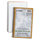 TOPS BUSINESS FORMS TOP74109 Second Nature Subject Wire Notebook, College/medium, 6 X 9 1/2, White, 80 Sheets
