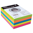 TOPS BUSINESS FORMS TOP99622 Fluorescent Color Memo Sheets, 20 Lb, 4 X 6, Assorted, 500 Sheets/pack