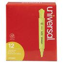UNIVERSAL PRODUCTS UNV08861 Desk Highlighter, Chisel Tip, Fluorescent Yellow, Dozen