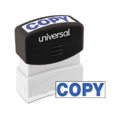 UNIVERSAL PRODUCTS UNV10047 Message Stamp, Copy, Pre-Inked One-Color, Blue
