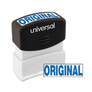 UNIVERSAL PRODUCTS UNV10060 Message Stamp, Original, Pre-Inked One-Color, Blue