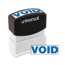 UNIVERSAL PRODUCTS UNV10071 Message Stamp, Void, Pre-Inked One-Color, Blue