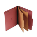 UNIVERSAL PRODUCTS UNV10270 Pressboard Classification Folder, Letter, Six-Section, Red, 10/box
