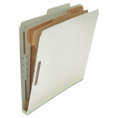 UNIVERSAL PRODUCTS UNV10272 Pressboard Classification Folder, Letter, Six-Section, Gray, 10/box