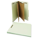 UNIVERSAL PRODUCTS UNV10273 Pressboard Classification Folder, Letter, Six-Section, Gray-Green, 10/box