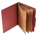 UNIVERSAL PRODUCTS UNV10290 Pressboard Classification Folder, Letter, Eight-Section, Red, 10/box