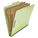 UNIVERSAL PRODUCTS UNV10291 Pressboard Classification Folder, Letter, Eight-Section, Green, 10/box