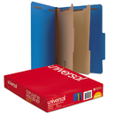 UNIVERSAL PRODUCTS UNV10301 Pressboard Classification Folders, Letter, Six-Section, Cobalt Blue, 10/box