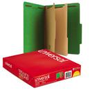 UNIVERSAL PRODUCTS UNV10302 Pressboard Classification Folders, Letter, Six-Section, Emerald Green, 10/box