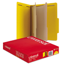 UNIVERSAL PRODUCTS UNV10304 Pressboard Classification Folders, Letter, Six-Section, Yellow, 10/box