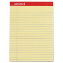 UNIVERSAL PRODUCTS UNV10630 Perforated Edge Writing Pad, Legal/margin Rule, Letter, Canary, 50-Sheet, Dozen