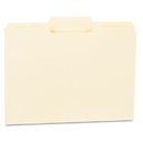 UNIVERSAL PRODUCTS UNV12122 File Folders, 1/3 Cut Second Position, One-Ply Top Tab, Letter, Manila, 100/box