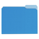 UNIVERSAL PRODUCTS UNV12301 Recycled Interior File Folders, 1/3 Cut Top Tab, Letter, Blue, 100/box
