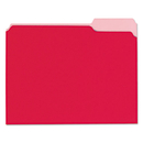 UNIVERSAL PRODUCTS UNV12303 Recycled Interior File Folders, 1/3 Cut Top Tab, Letter, Red, 100/box