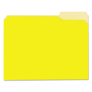 UNIVERSAL PRODUCTS UNV12304 Recycled Interior File Folders, 1/3 Cut Top Tab, Letter, Yellow, 100/box
