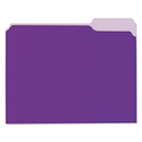 UNIVERSAL PRODUCTS UNV12305 Recycled Interior File Folders, 1/3 Cut Top Tab, Letter, Violet, 100/box