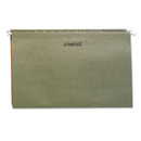 UNIVERSAL PRODUCTS UNV14151 One Inch Box Bottom Pressboard Hanging Folder, Legal, Standard Green, 25/box