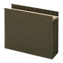 UNIVERSAL PRODUCTS UNV14160 Hanging Box Bottom File Pockets, 11 Point Stock, Letter, Standard Green, 10/box
