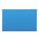 UNIVERSAL PRODUCTS UNV14216 Hanging File Folders, 1/5 Tab, 11 Point Stock, Legal, Blue, 25/box