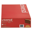 UNIVERSAL PRODUCTS UNV15242 1 3/4 Inch Expansion File Pockets, Straight Tab, Legal, Redrope/manila, 25/box