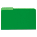UNIVERSAL PRODUCTS UNV15302 Recycled Interior File Folders, 1/3 Cut Top Tab, Legal, Green, 100/box