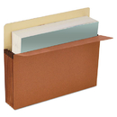 UNIVERSAL PRODUCTS UNV15343 3 1/2 Inch Expansion File Pockets, Straight Tab, Letter, Redrope/manila, 25/box