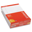 UNIVERSAL PRODUCTS UNV20630 Perforated Edge Writing Pad, Legal Ruled, Letter, White, 50-Sheet, Dozen