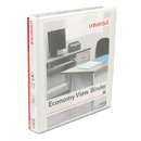 UNIVERSAL PRODUCTS UNV20962CT Economy Round Ring View Binder, 1