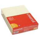 UNIVERSAL PRODUCTS UNV22000 Glue Top Writing Pads, Legal Rule, Letter, Canary, 50-Sheet Pads/pack, Dozen