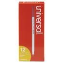 UNIVERSAL OFFICE PRODUCTS UNV27412 Economy Ballpoint Stick Oil-Based Pen, Red Ink, Medium, Dozen