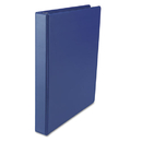 "Suede Finish Vinyl Round Ring Binder, 1"" Capacity, Royal Blue"