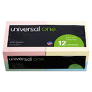 UNIVERSAL PRODUCTS UNV35669 Standard Self-Stick Notes, 3 X 3, Assorted Pastel Colors, 100-Sheet, 12/pack