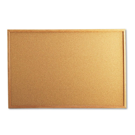 UNIVERSAL PRODUCTS UNV43603 Cork Board with Oak Style Frame, 36 x 24, Natural, Oak-Finished Frame, Price/EA