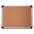 UNIVERSAL PRODUCTS UNV43713 Cork Board With Aluminum Frame, 36 X 24, Natural, Silver Frame