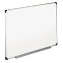 UNIVERSAL PRODUCTS UNV43725 Dry Erase Board, Melamine, 72 X 48, White, Black/gray Aluminum/plastic Frame
