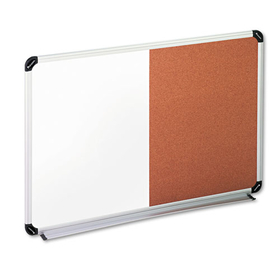 UNIVERSAL PRODUCTS UNV43743 Cork/Dry Erase Board, Melamine, 36 x 24, Black/Gray, Aluminum/Plastic Frame, Price/EA